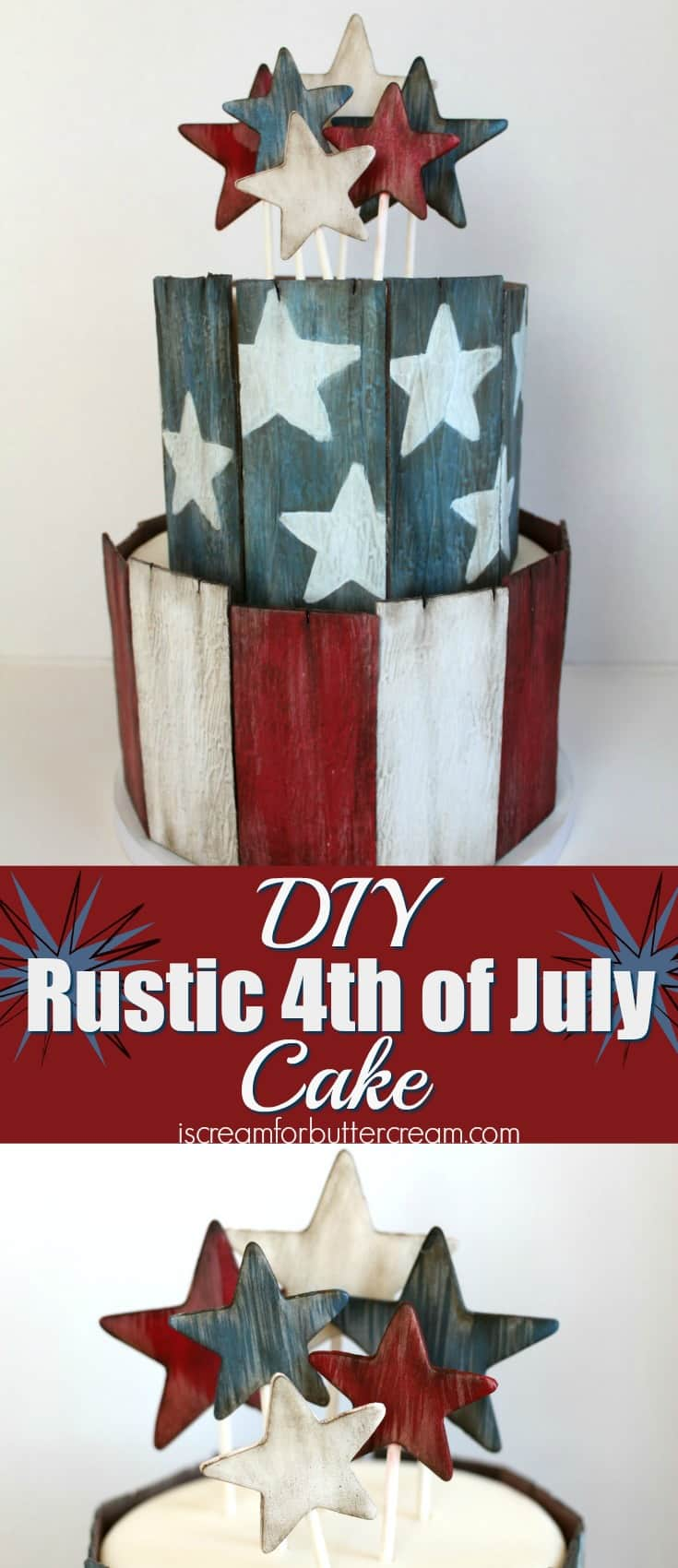 DIY 4th of July Cake