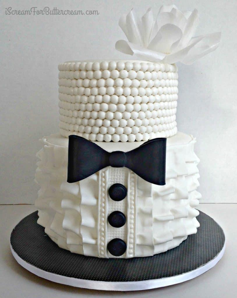 Bridal shower ruffle cake