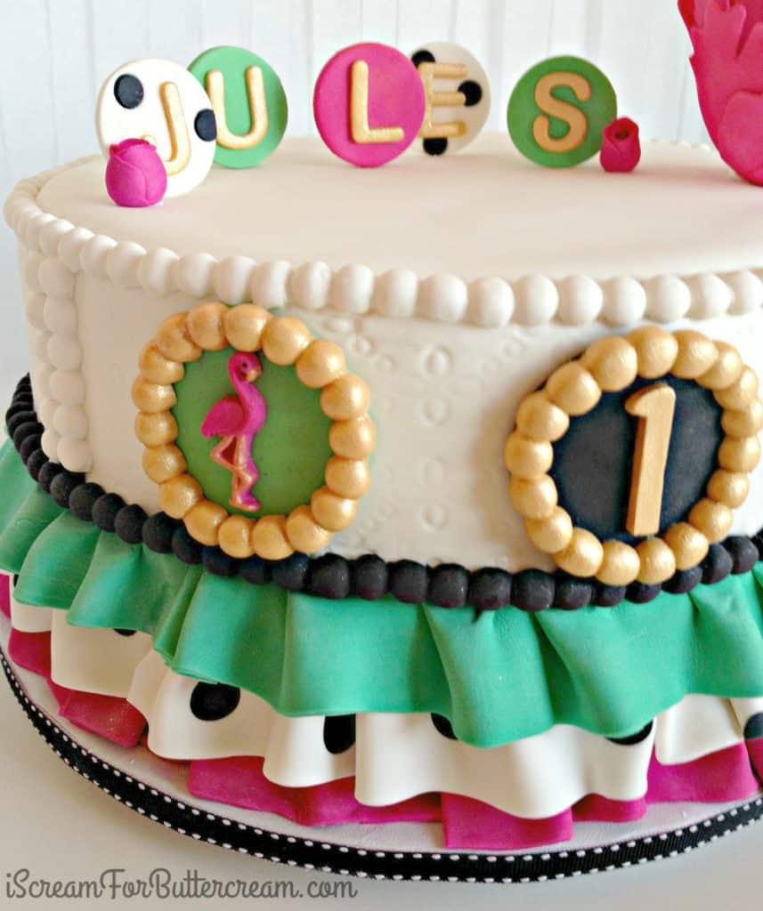 Flamingo Ruffle Cake