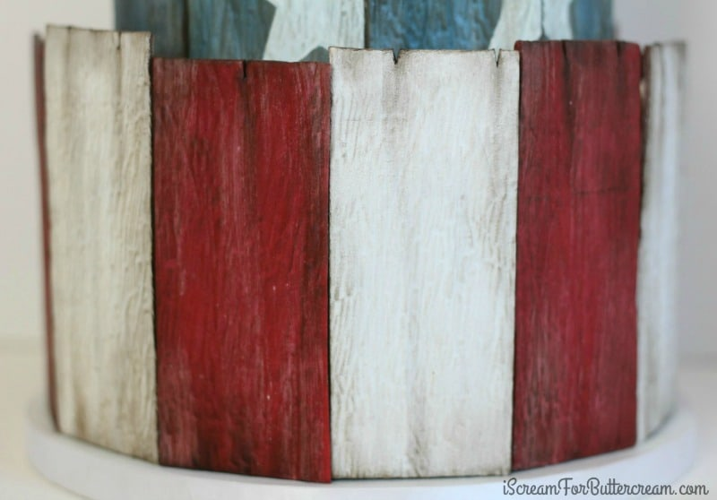 How to make weathered wood fondant