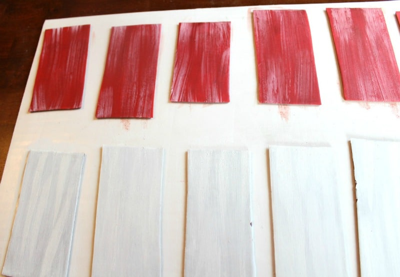 Coloring the wooden planks