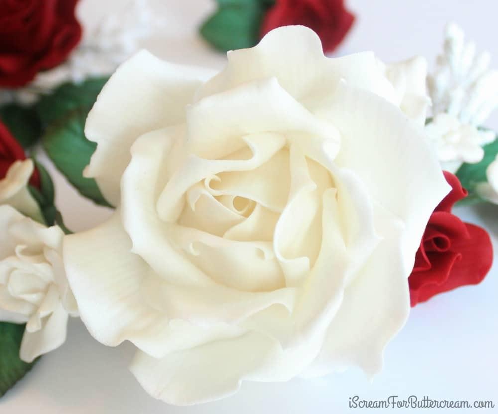 White sugar rose
