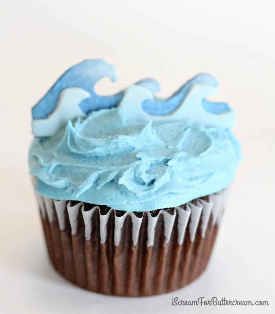 Ocean wave cupcake toppers