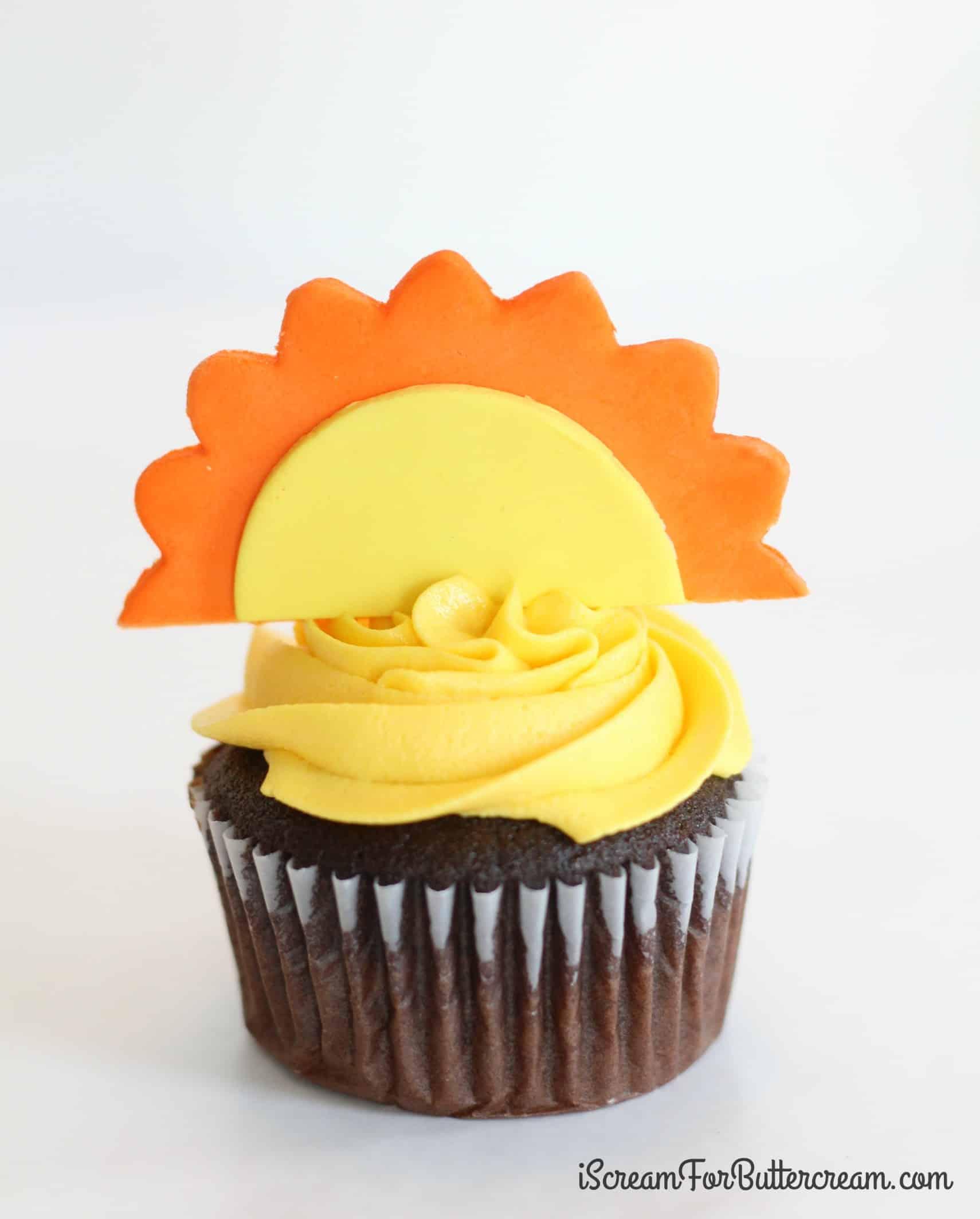 Sun Cupcake Toppers