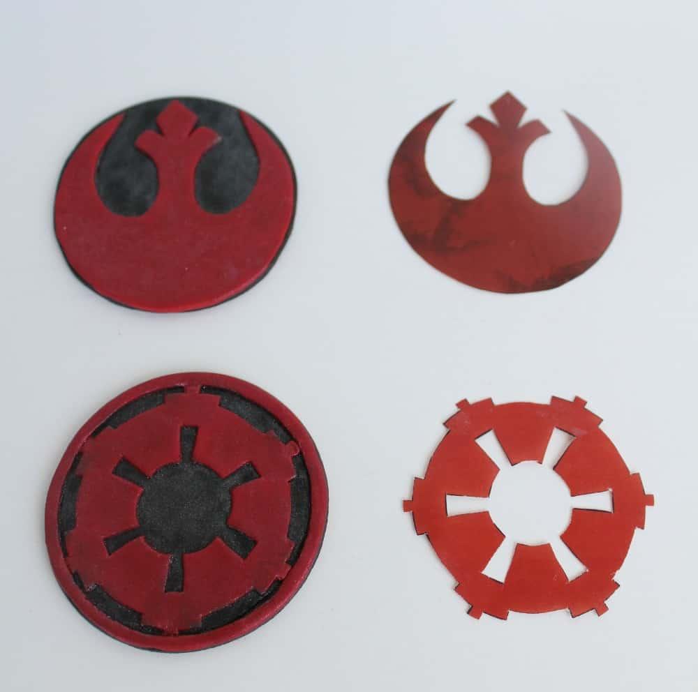 Star Wars Grooms Cake Fondant Symbols