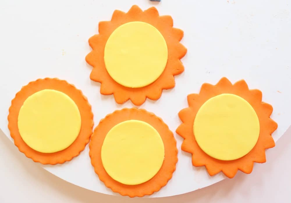 Attaching the sun cutouts