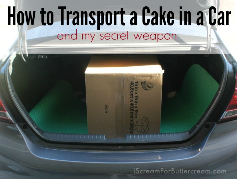 How to Transport a Cake in a Car