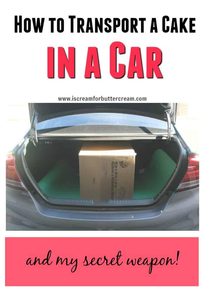 Transport a Cake in a Car
