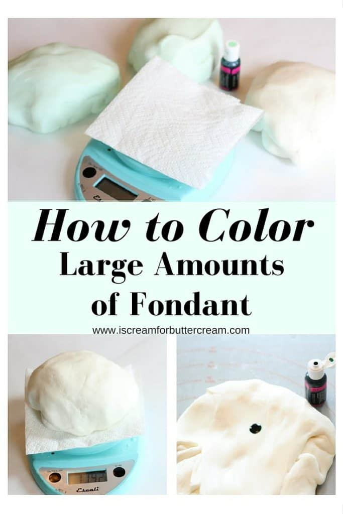 The Easy Way to Color Large Amounts of Fondant
