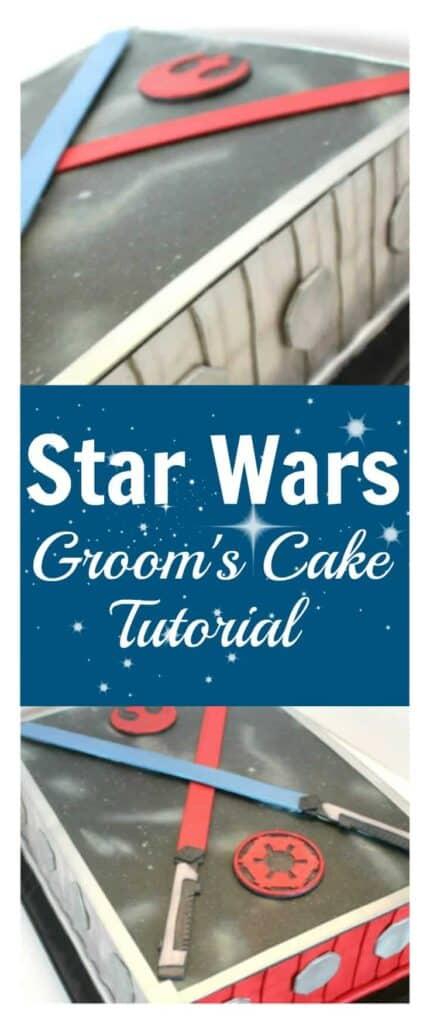 Star Wars Grooms Cake Tutorial