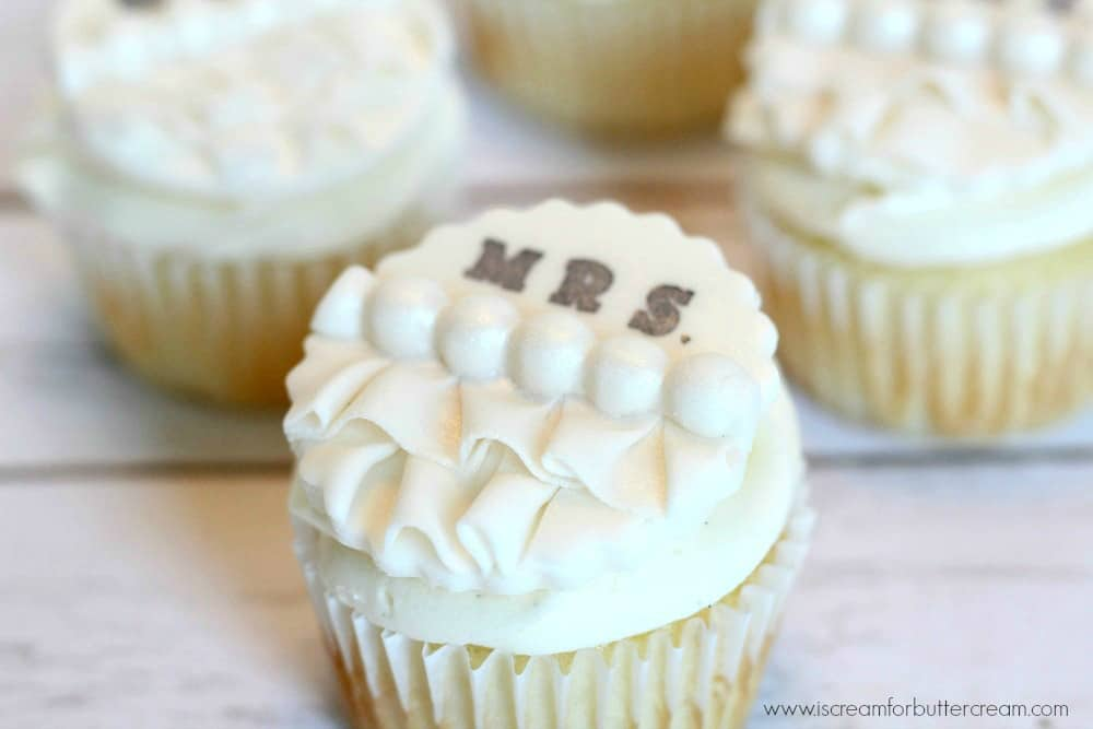 Ruffle Bridal Shower Cupcake Toppers