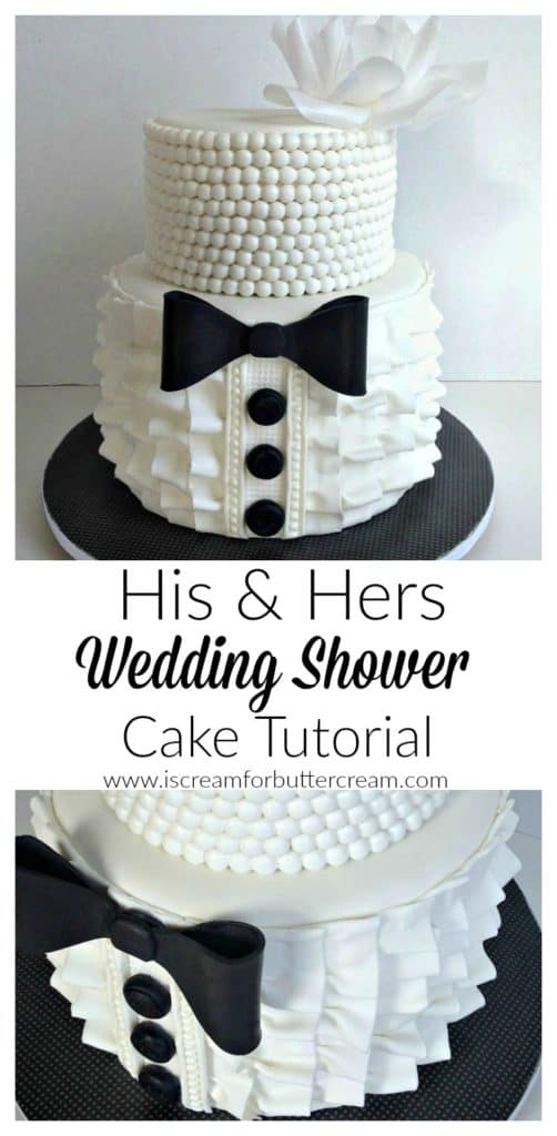 his and hers wedding shower cake pinterest graphic
