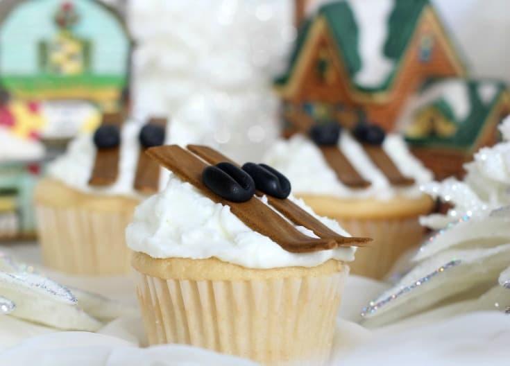 Ski Slope Cupcakes