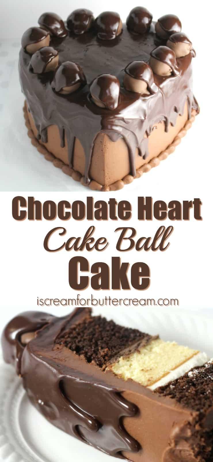 Chocolate Heart Cake Pinterest Graphic