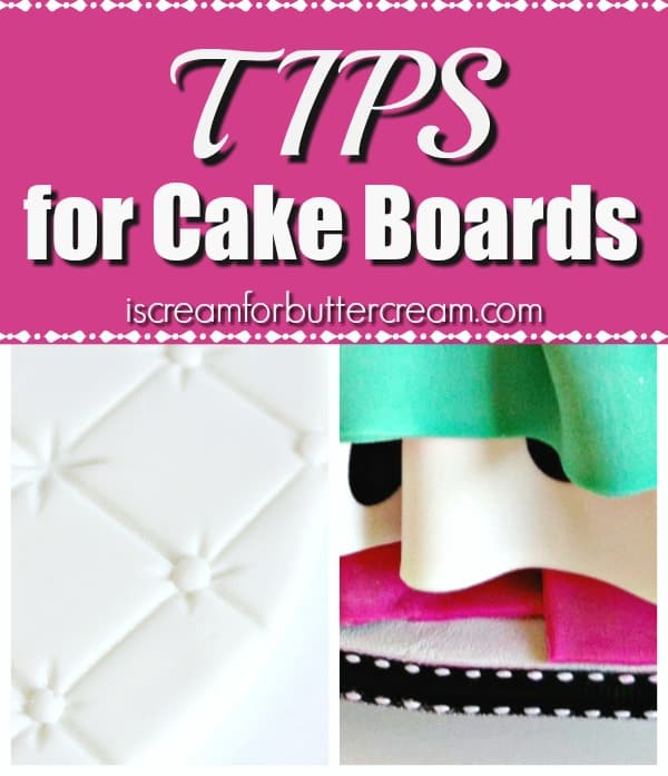 Tips for Cake Boards Blog Graphic