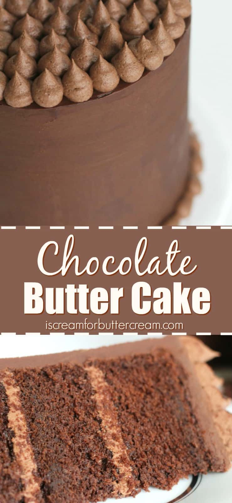 Chocolate Butter Cake Pinterest Graphic
