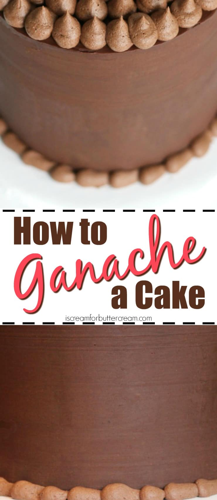 How to Ganache a Cake Pinterest Graphic