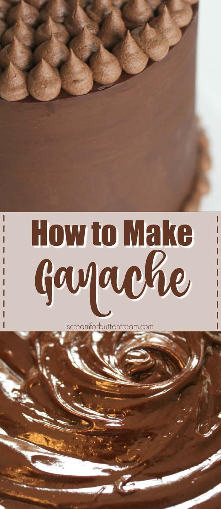 How to Make Ganache pinterest graphic